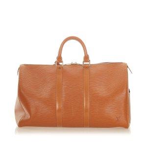 Louis Vuitton Travel Bag brown leather