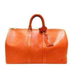 Louis Vuitton Torba podróżna brązowy Skóra