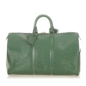 Louis Vuitton Travel Bag green leather