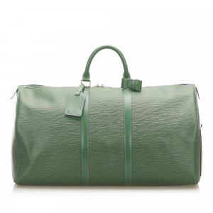 Louis Vuitton Travel Bag green leather