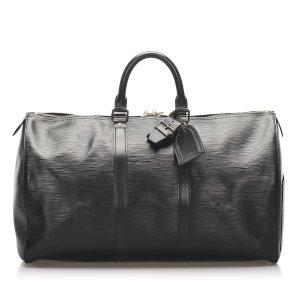 Louis Vuitton Torba podróżna czarny Skóra