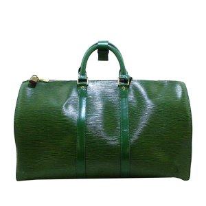 Louis Vuitton Torba weekendowa zielony Skóra