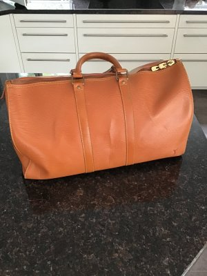 Louis Vuitton Sac de voyage abricot tissu mixte