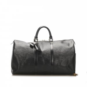 Louis Vuitton Travel Bag black leather