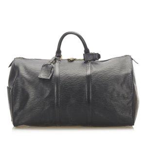 Louis Vuitton Borsa da viaggio nero Pelle