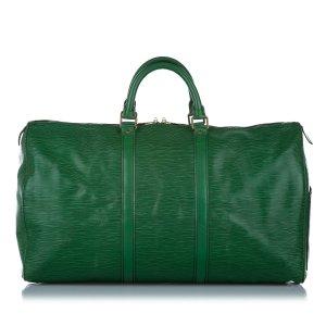 Louis Vuitton Torba podróżna zielony Skóra