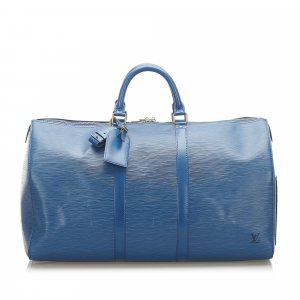 Louis Vuitton Travel Bag blue leather