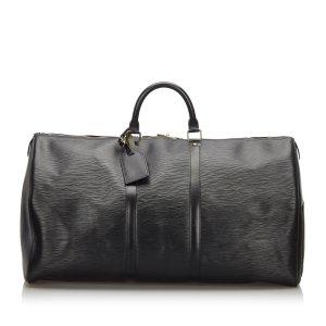Louis Vuitton Reistas zwart Leer