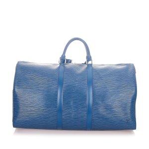 Louis Vuitton Travel Bag blue leather