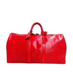 Louis Vuitton Weekendtas rood Leer