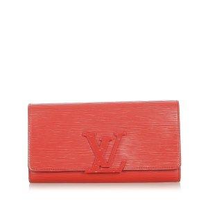 Louis Vuitton Portmonetka czerwony Skóra