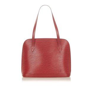 Louis Vuitton Bolso de compra rojo Cuero