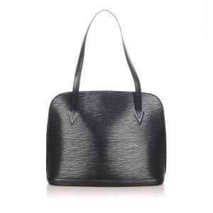 Louis Vuitton Schoudertas zwart Leer