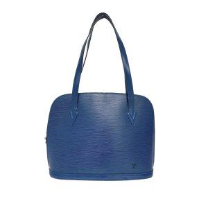 Louis Vuitton Schoudertas blauw Leer