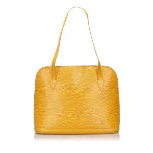 Louis Vuitton Sac porté épaule jaune cuir