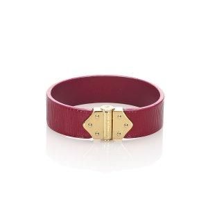 Louis Vuitton Bracelet rosé cuir
