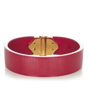 Louis Vuitton Bransoletka magenta Skóra