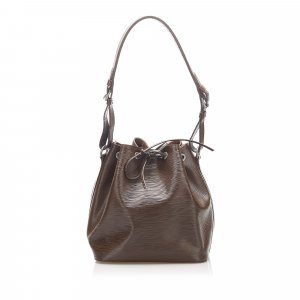 Louis Vuitton Shoulder Bag dark brown leather