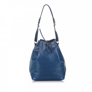 Louis Vuitton Bolsa de hombro azul Cuero