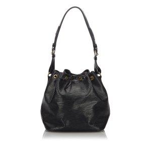 Louis Vuitton Sac porté épaule noir cuir