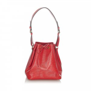 Louis Vuitton Bolsa de hombro rojo Cuero
