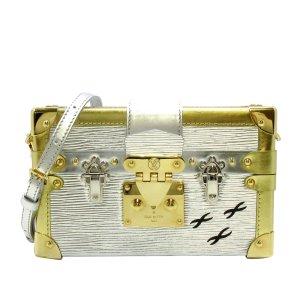 Louis Vuitton Bandolera color plata Cuero