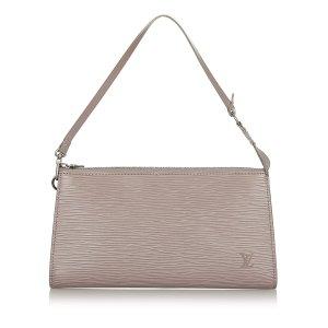 Louis Vuitton Handbag purple leather