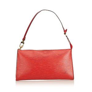 Louis Vuitton Sac à main rouge cuir
