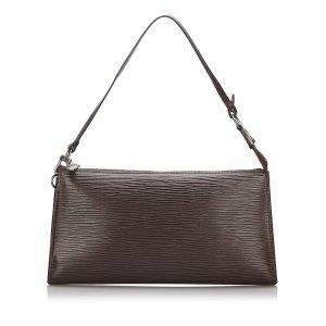 Louis Vuitton Borsetta marrone scuro Pelle
