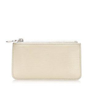 Louis Vuitton Etui na klucze biały Skóra