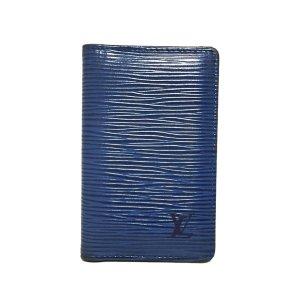 Louis Vuitton Kaartetui blauw Leer