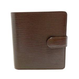 Louis Vuitton Cartera marrón oscuro Cuero
