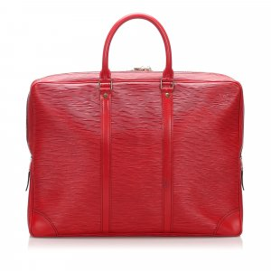 Louis Vuitton Business Bag red leather