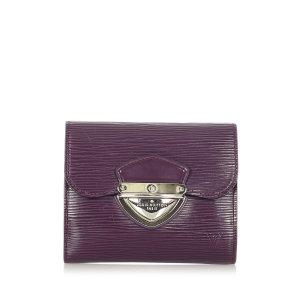 Louis Vuitton Portemonnee paars Leer