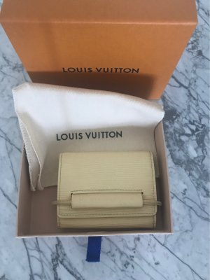 Louis Vuitton Wallet pale yellow-cream leather