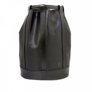 Louis Vuitton Mochila negro Cuero