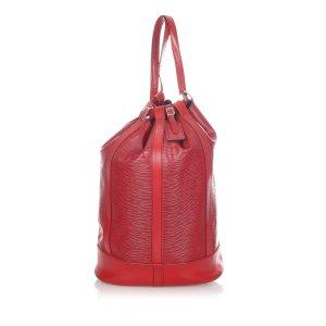 Louis Vuitton Plecak czerwony Skóra