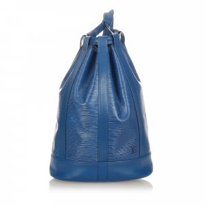 Louis Vuitton Backpack blue leather