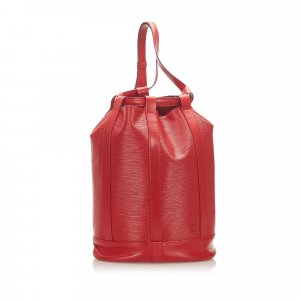 Louis Vuitton Backpack red leather