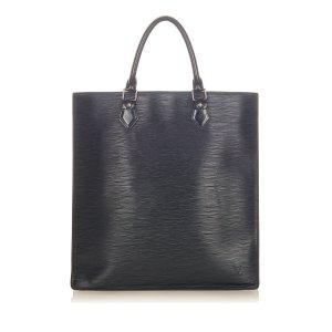Louis Vuitton Bolso de compra negro Cuero
