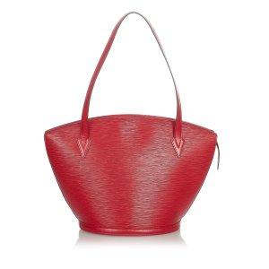 Louis Vuitton Sac fourre-tout rouge cuir