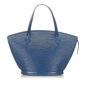 Louis Vuitton Sac à main bleu cuir
