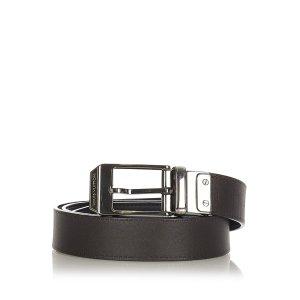 Louis Vuitton Cinturón marrón oscuro Cuero