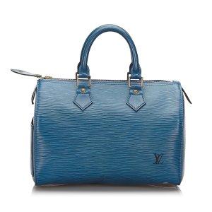 Louis Vuitton Bolso azul Cuero
