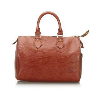 Louis Vuitton Sac à main brun cuir