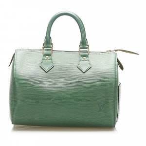 Louis Vuitton Handbag green leather