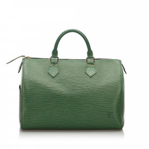 Louis Vuitton Borsetta verde Pelle
