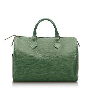 Louis Vuitton Handtas groen Leer