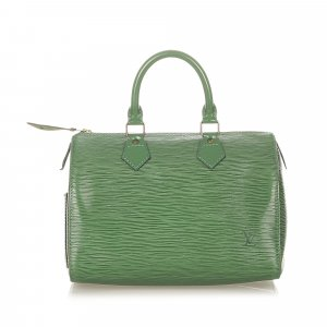 Louis Vuitton Torebka podręczna zielony Skóra