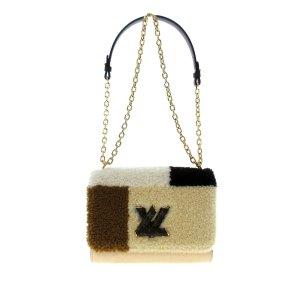 Louis Vuitton Bolsa de hombro beige Cuero
